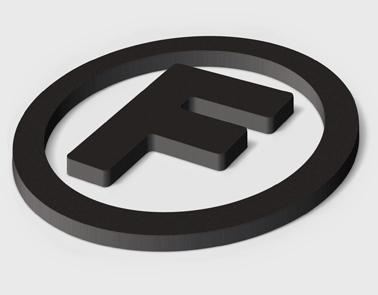 Frez / Litery 3D